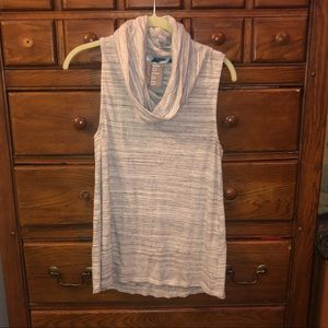 Funnel neck tank top